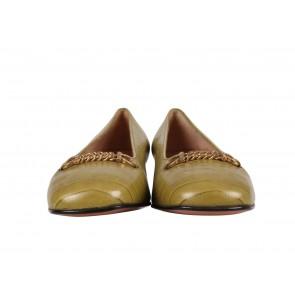 Salvatore Ferragamo Green Heels