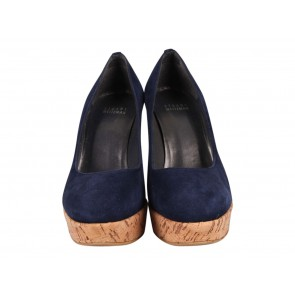 Stuart Weitzman Dark Blue Wedges