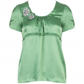 Vera Wang Lavender Label Green Shirt
