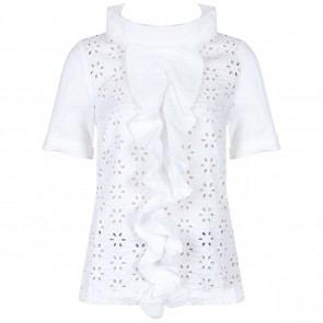 Vera Wang Lavender Label White Blouse
