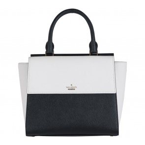 Kate Spade Black And Off White Cameron Street Small Blakely Satchel