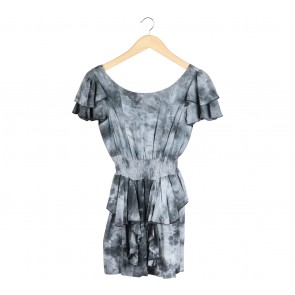 N.Y.L.A Grey Ruffle Mini Dress