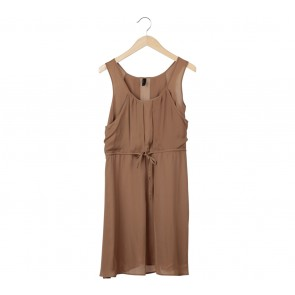 Vero Moda Brown Sleeveless Midi Dress