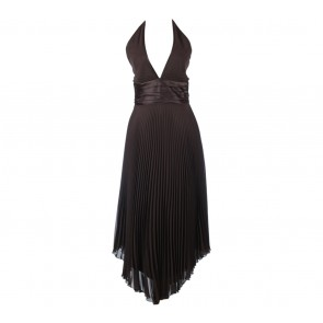 Mr K Brown Sleeveless Midi Dress