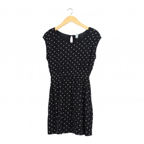 Forever 21 Black Polka Dot Mini Dress