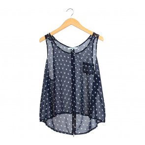 New Look Dark Blue Polka Dot Sleeveless