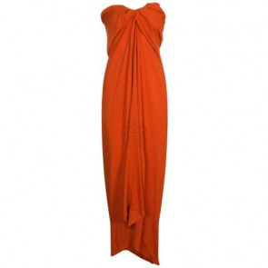 Lanvin Orange Midi Dress