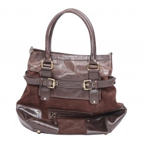 Massimo Dutti Brown Leather Satchel