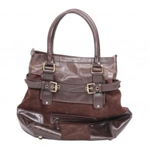 Massimo Dutti Brown Leather Satchel