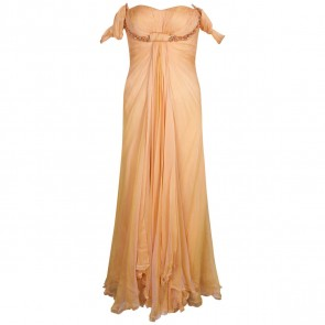 Adrian Gan Orange Midi Dress