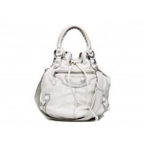 Balenciaga White Bucket  Shoulder Bag