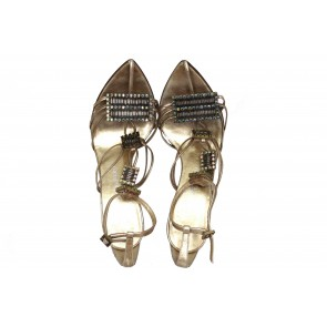 Emanuel Ungaro Gold Sandals