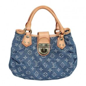 Louis Vuitton Blue Denim Pleaty Tote Bag