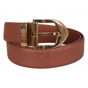 Louis Vuitton Brown Leather Taiga Belt