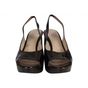Max Mara Black Wedges