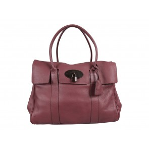 Mulberry Purple Medium Classic Grain Bayswater Tote Bag