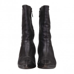 Hermes Black Pointed Toe Boots