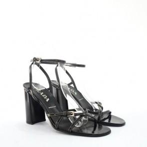 Prada Black Strappy Sandals