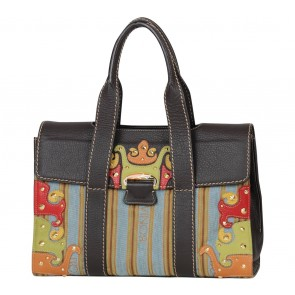 Bonia Multi Colour Studded Handbag