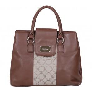 Oroton Brown And Cream Handbag