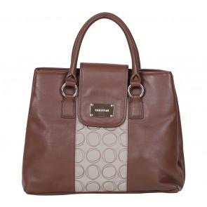 Oroton Brown And Cream Handbag
