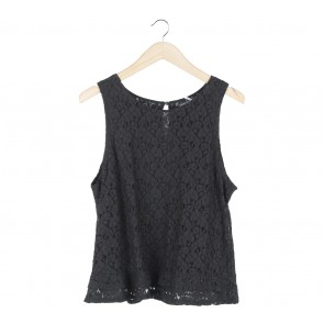 Banana Republic Black Lace Sleeveless