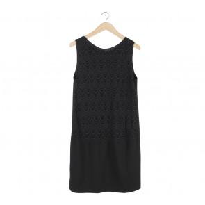 Mango Black Sleeveless Midi Dress