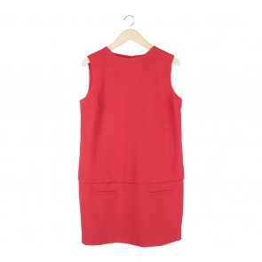 Zara Red Sleeveless Mini Dress