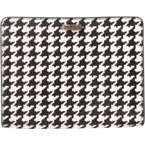Karen Millen Black Houndstooth Clutch