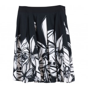Oasis Black And White Floral Midi Skirt