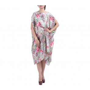 AVA Multi Colour Floral Caftan Long Dress
