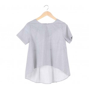 Dot Dtails White Holes Blouse