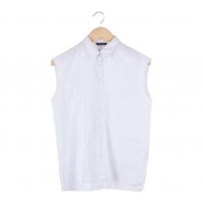 Massimo Dutti White Sleeveless Shirt