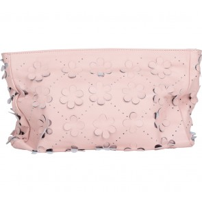 Asos Pink Floral Perforated Clutch