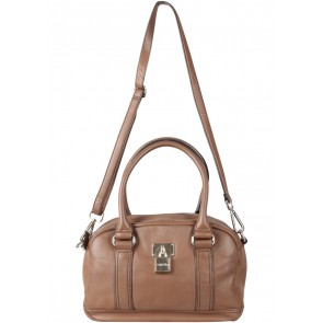 Calvin Klein Brown Vienna Lock Dr.  Shoulder Bag