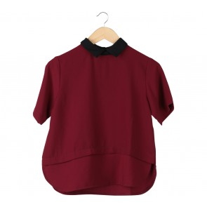 Cotton Ink Maroon Blouse