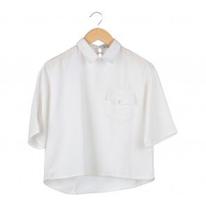 Cotton Ink White Pocket Blouse