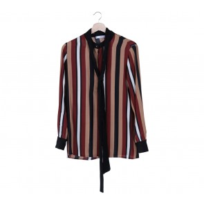Mango Brown Stripes Shirt