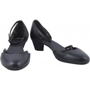 Camper Black Ankle Strap Heels