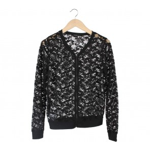 Mango Black Lace Jaket