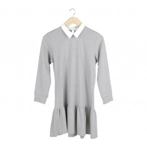 Cotton Ink Grey Collar Mini Dress