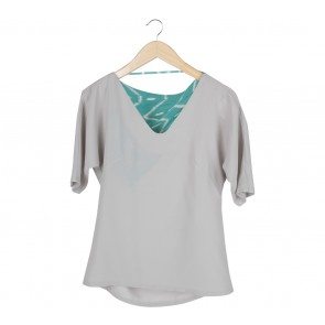Geulis Grey And Green Blouse