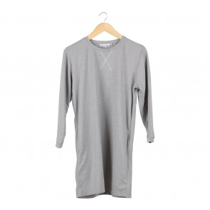 Cotton Ink Grey Mini Dress