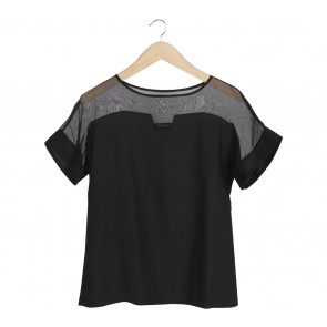 Les Riches Black See Thru Blouse