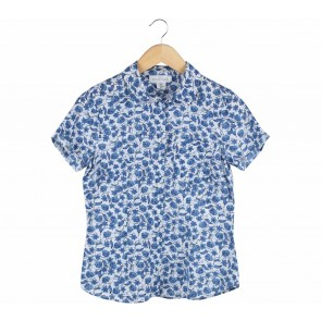 H&M Blue And White Floral Shirt