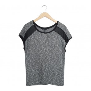 Mango Black And White T-Shirt