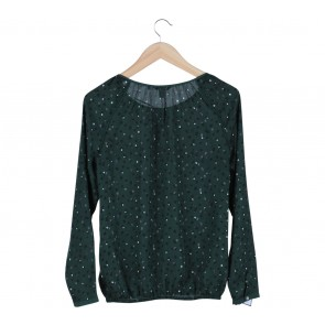 Esprit Green Dotted Blouse