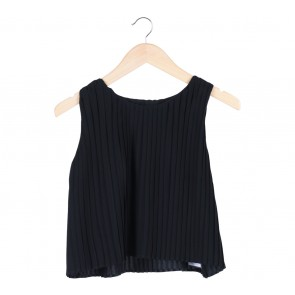 Shop At Velvet Black Accordion Sleeveless