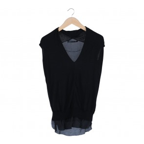 Zara Black Combi Blouse