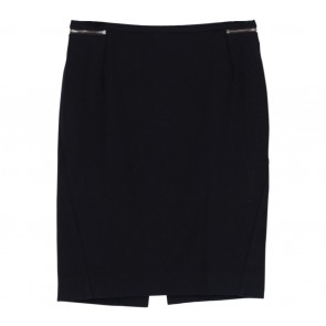 H&M Black Zipper Detail Skirt
